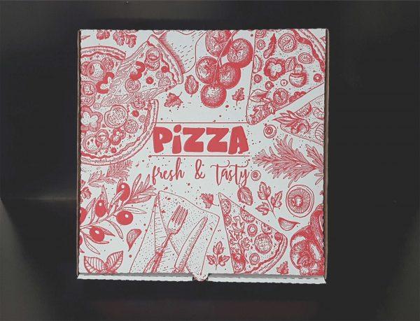 Cutii carton pizza imprimate color