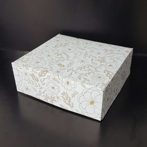 Cutie Prajituri Carton Tipar Floral monocrom fara fereastra