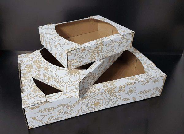 Cutii Fursecuri si prajituri din carton ondulat Imprimat plastifiat interior