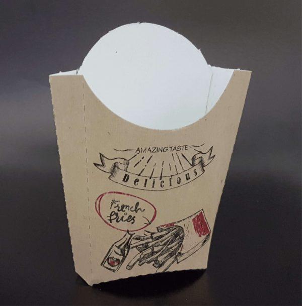 Cutii cartofi prajiti carton natur imprimat