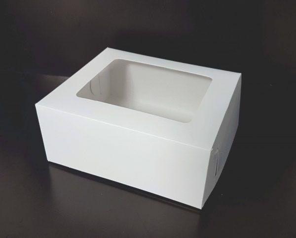 Cutie Prajituri Carton celulozic Alb neimprimat cu fereastra
